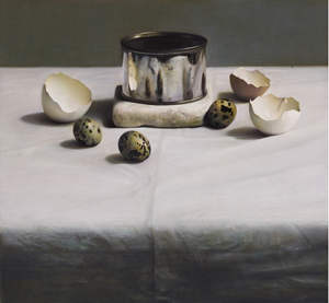 Hemingway Andrew Still Life Arrangement with Venetian Marble on Damask 0